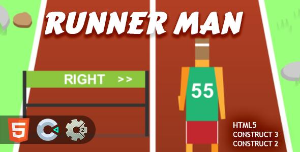 Runner Man HTML5 Construct 2/3 Game