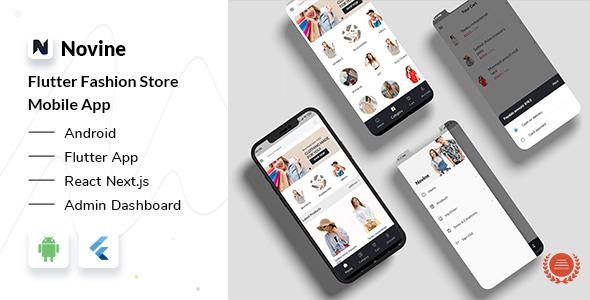 Novine - Fashion Shop Flutter App + React Next Admin Dashboard