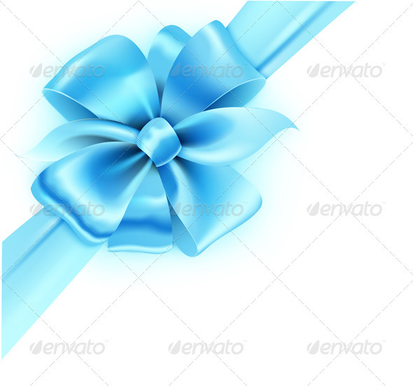 Blue bow - Decorative Vectors