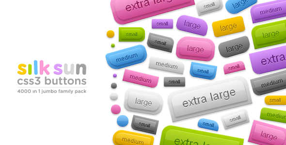 Download silksun CSS3 buttons - 4000 in 1 jumbo family pack nulled version