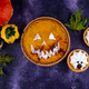Halloween pumpkin pie in shape of jack-o-lantern - PhotoDune Item for Sale