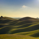Tuscany, sunset rural landscape. Rolling hills and farmland. - PhotoDune Item for Sale