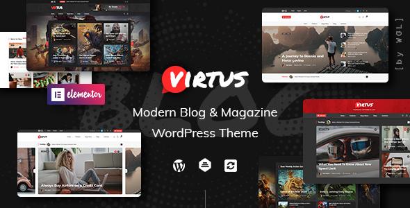 Extraordinary Virtus - Modern Blog & Magazine WordPress Theme