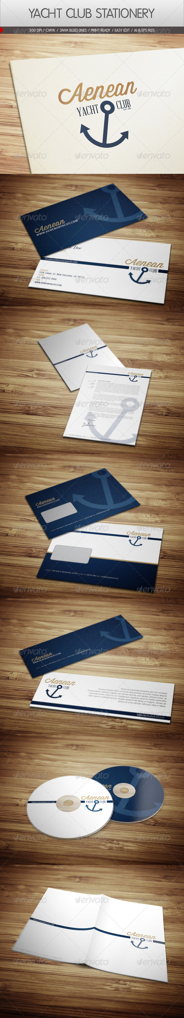 Yacht Club Corporate Identity - Stationery Print Templates