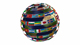 globe and flags - VideoHive Item for Sale