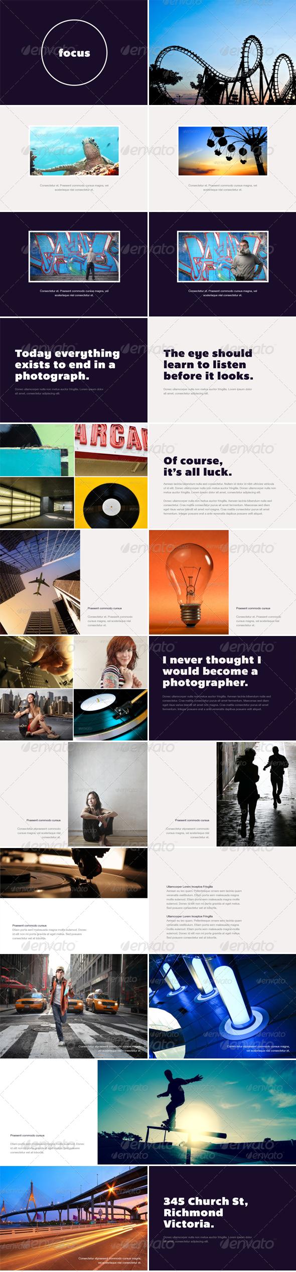 Focus - Photo Album or Folio Template - Photo Albums Print Templates