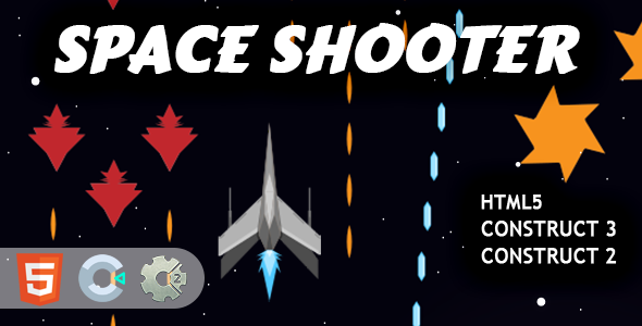 Mini Space Shooter HTML5 Construct 2/3 Game