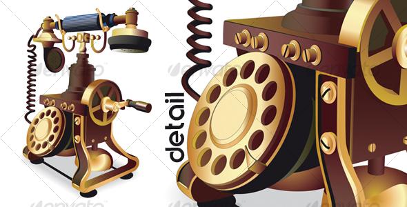 Old-style telephone - Retro Technology