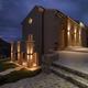 external shot of a modern villa by night - PhotoDune Item for Sale
