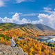Woman hiking at Artist's Bluff in autumn - PhotoDune Item for Sale