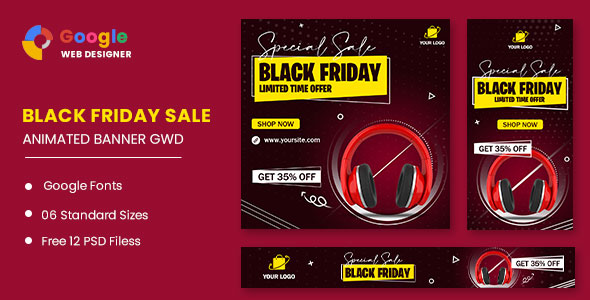 Black Friday Sale Product HTML5 Banner Ads GWD