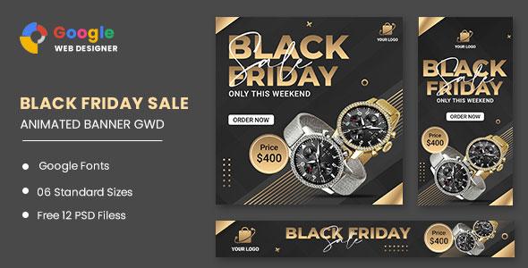 Black Friday Sale Watch HTML5 Banner Ads GWD