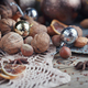 Variety of nuts in Christmas and New Year decoration - PhotoDune Item for Sale