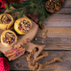 Baked apples stuffed with berries, walnuts and honey on a wooden cutting board. - PhotoDune Item for Sale
