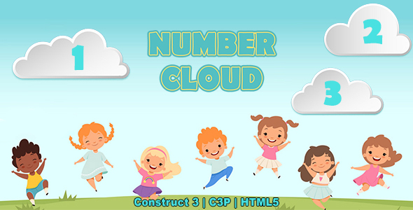 Number Clouds Game (Construct 3   C3P   HTML5) Kids Educational Game