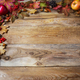 Thanksgiving concept with apples, acorns, berries and fall leaves - PhotoDune Item for Sale