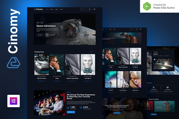 Cinomy – Movie TV & Streaming Services Elementor Template Kit