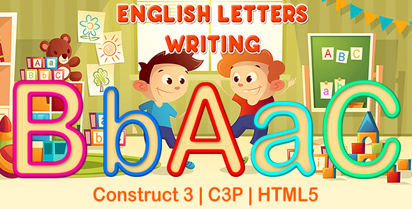 English Letters Writing App (Construct 3   C3P   HTML5) Kids Educational Game