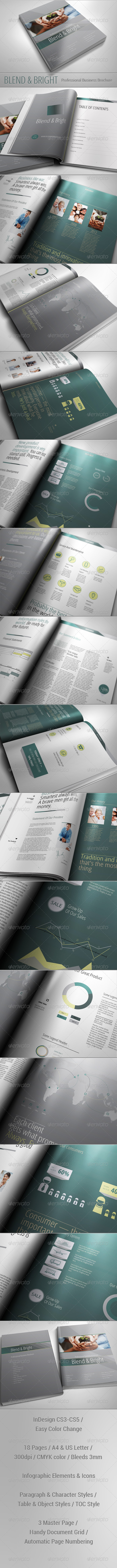 Blend & Bright - Professional Business Brochure - Corporate Brochures