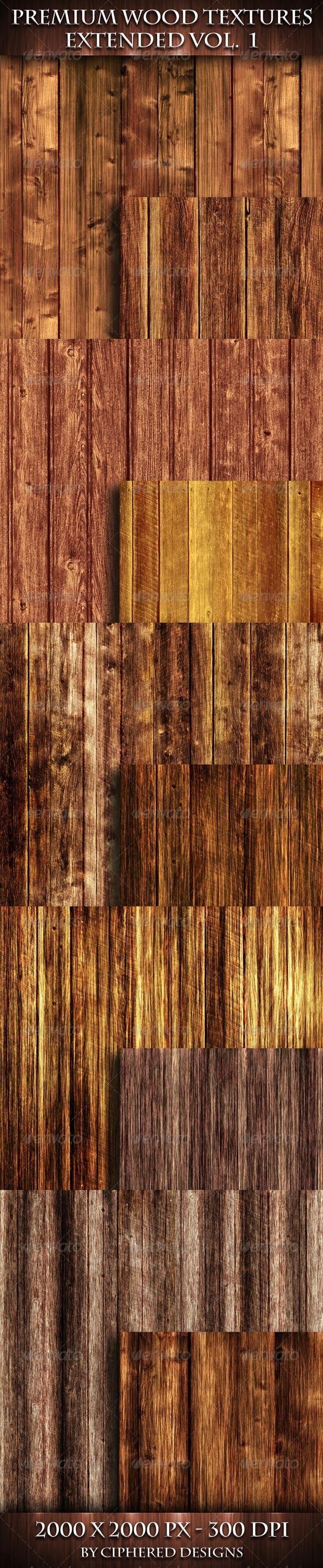 Premium Wood Textures Extended - Vol. 1 - Wood Textures