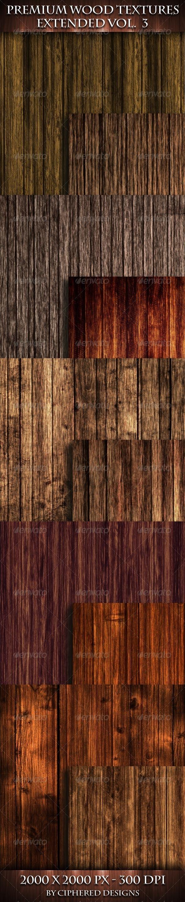 Premium Wood Textures Extended - Vol 2 - Wood Textures