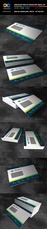DIN 5 Envelope Mock-up - Stationery Print
