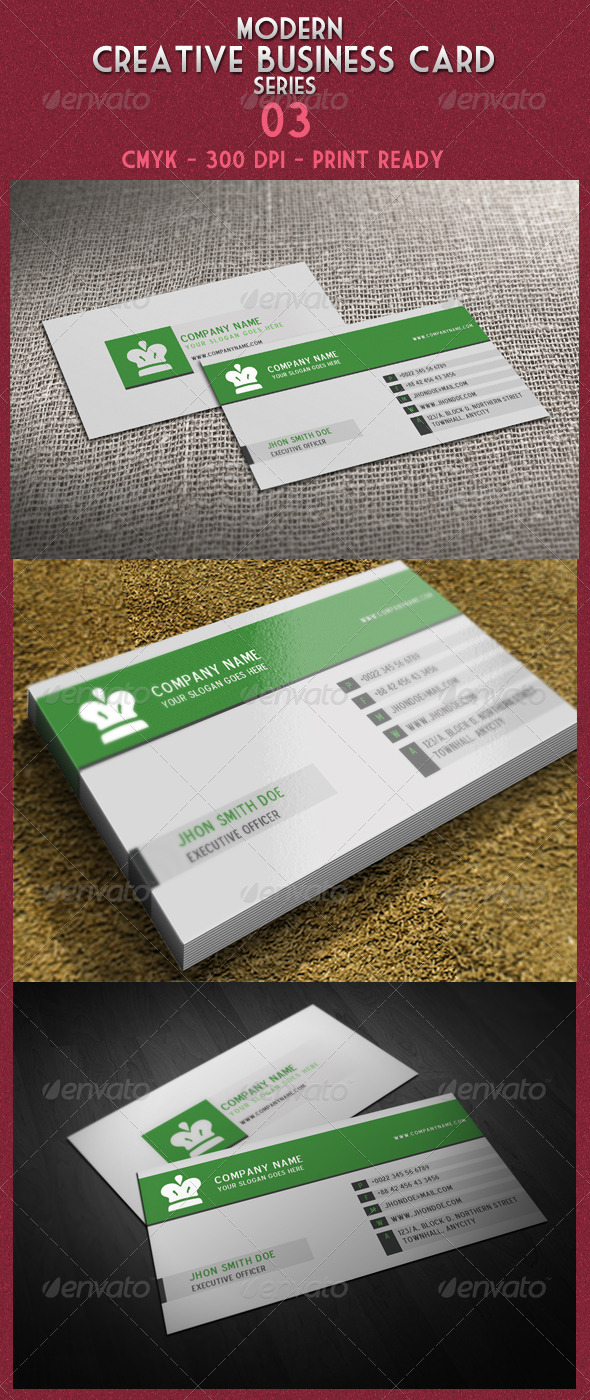 Modern Creative Business Card Series 03 - Creative Business Cards