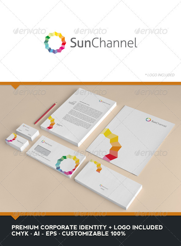 Sun Channel - Corporate Identity - Stationery Print Templates
