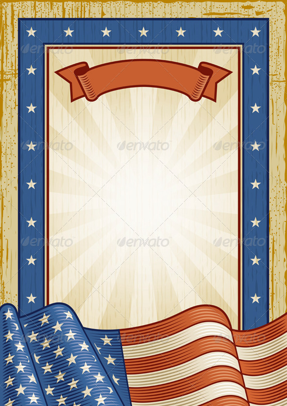 Retro American Frame - Decorative Vectors