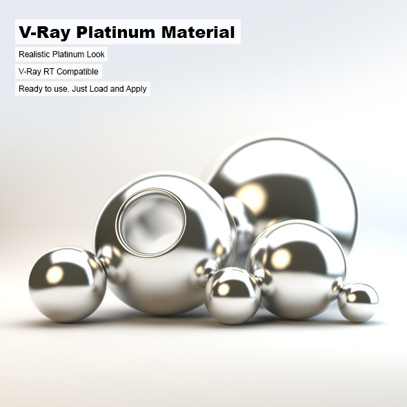 V-Ray Platinum Material - 3DOcean Item for Sale