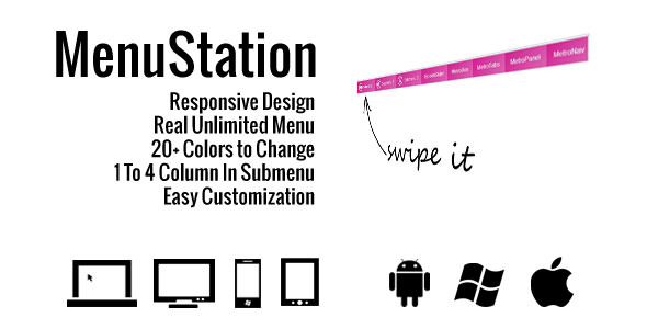 MenuStation - Real Unlimited Responsive Menu