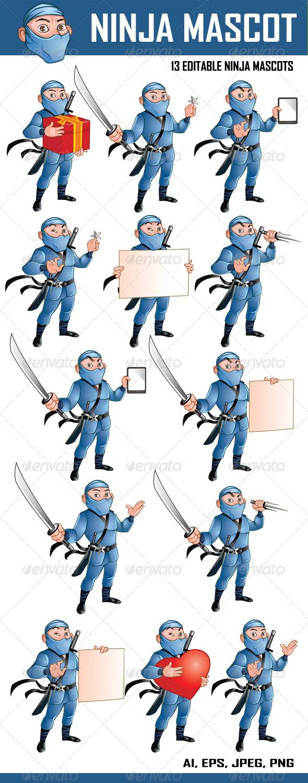 Ninja Mascot - People Characters