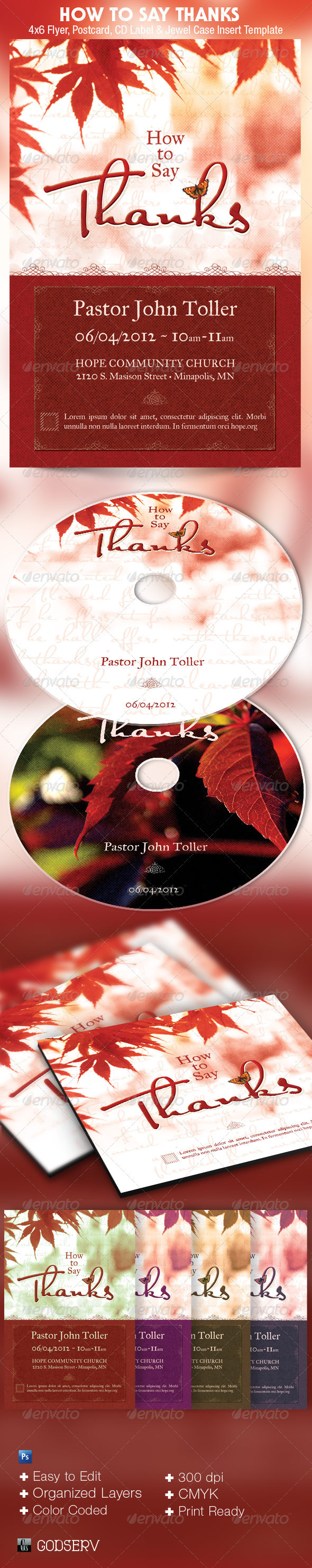 Thanks Church Flyer CD Template - Church Flyers