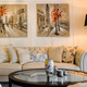 Big and comfortable living room with bright sofa and paintings on the walls - PhotoDune Item for Sale