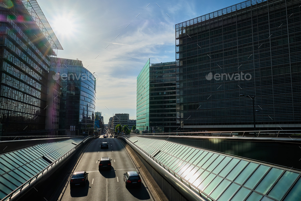 Street traffic in Brussels - Stock Photo - Images