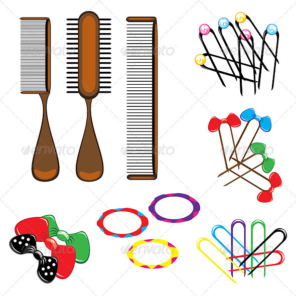 Hair accessories - Objects Vectors
