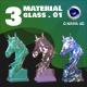C4D - 3 GLASS MATERIAL_NO1