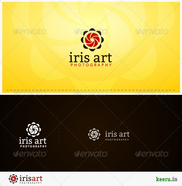 iris art photography logo template - Symbols Logo Templates
