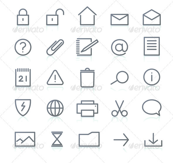 Icon set - Technology Conceptual
