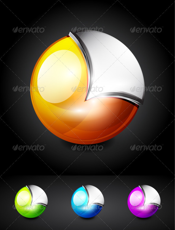 Glossy Sphere Icons - Decorative Symbols Decorative