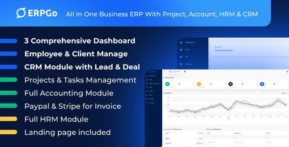 ERPGo - All In One Business ERP With Project, Account, HRM & CRM