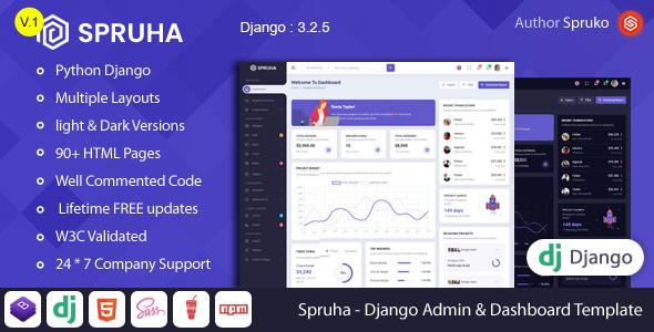 Spruha - Django Admin & Dashboard Template