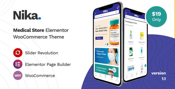 Nika - Medical Elementor WooCommerce Theme