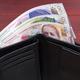 Georgian lari in the black wallet - PhotoDune Item for Sale