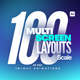 100 Multi-Screen Layouts // Scale - VideoHive Item for Sale