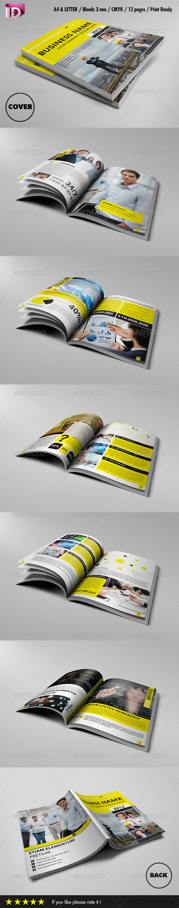 Modern Corporate Brochure Template (Vol 1) - Brochures Print Templates