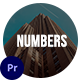 Numbers Slideshow for Premiere Pro - VideoHive Item for Sale