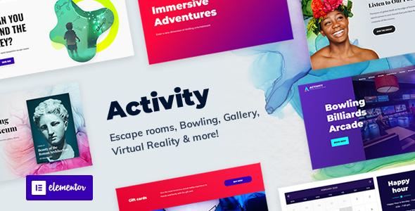 Super Activity - Booking WordPress Theme