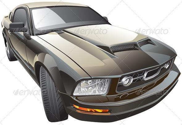 American Sport Car - Objects Vectors