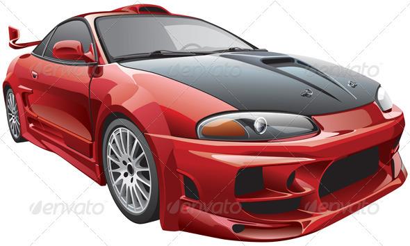 Devil's Car - Objects Vectors